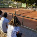 Loano, un campo el tennis club.